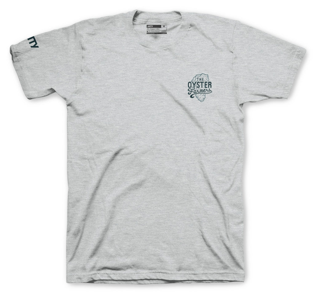 The Oyster Farmers Tee- Heather Grey