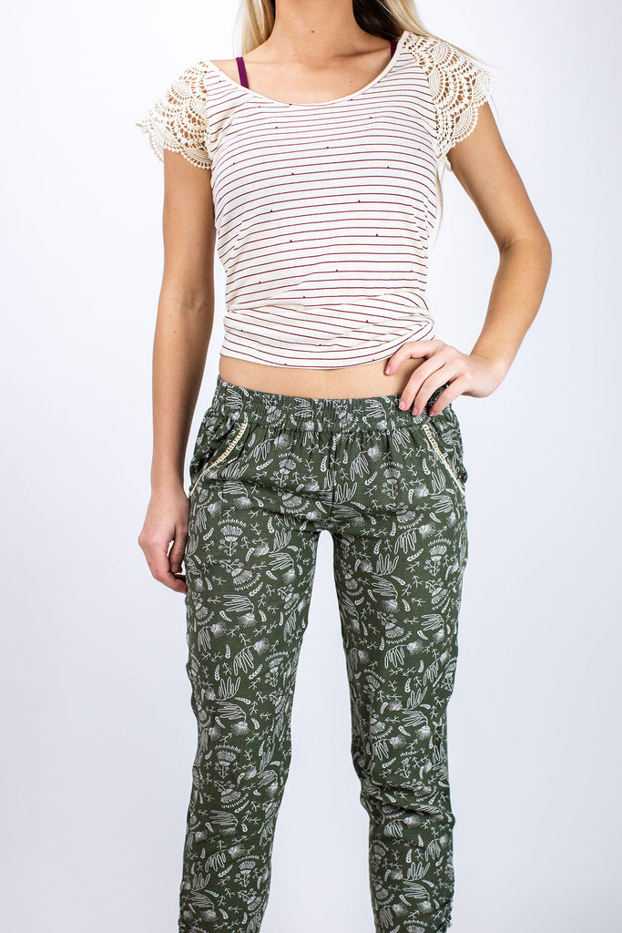 Jetty - Beach Bum Pants- Olive