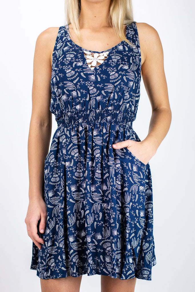 Lidia Dress- Navy