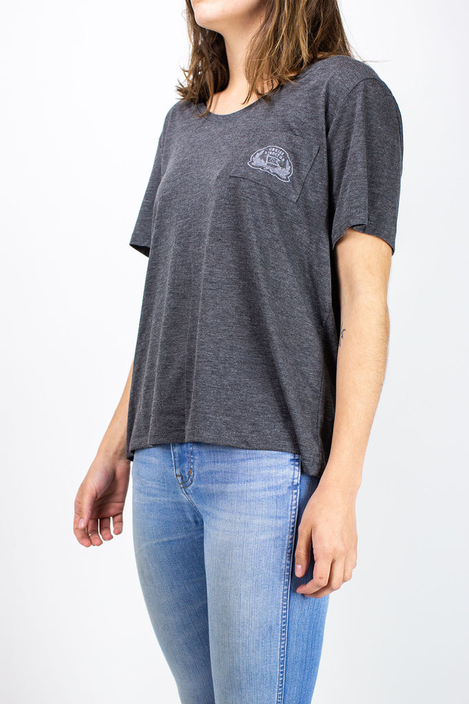 Jetty - Cruise Director Pocket Tee- Charcoal