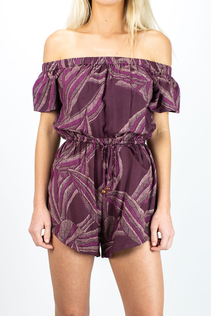 Sail Away Romper- Burgundy