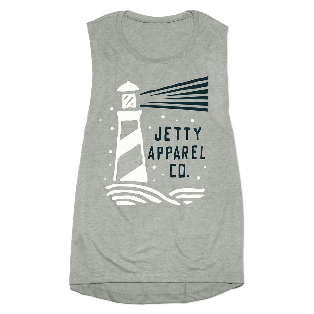 Lighthouse Tank- Heather Grey
