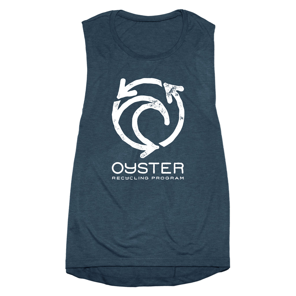 Jetty - Womens Oyster Recycling Tank- Navy