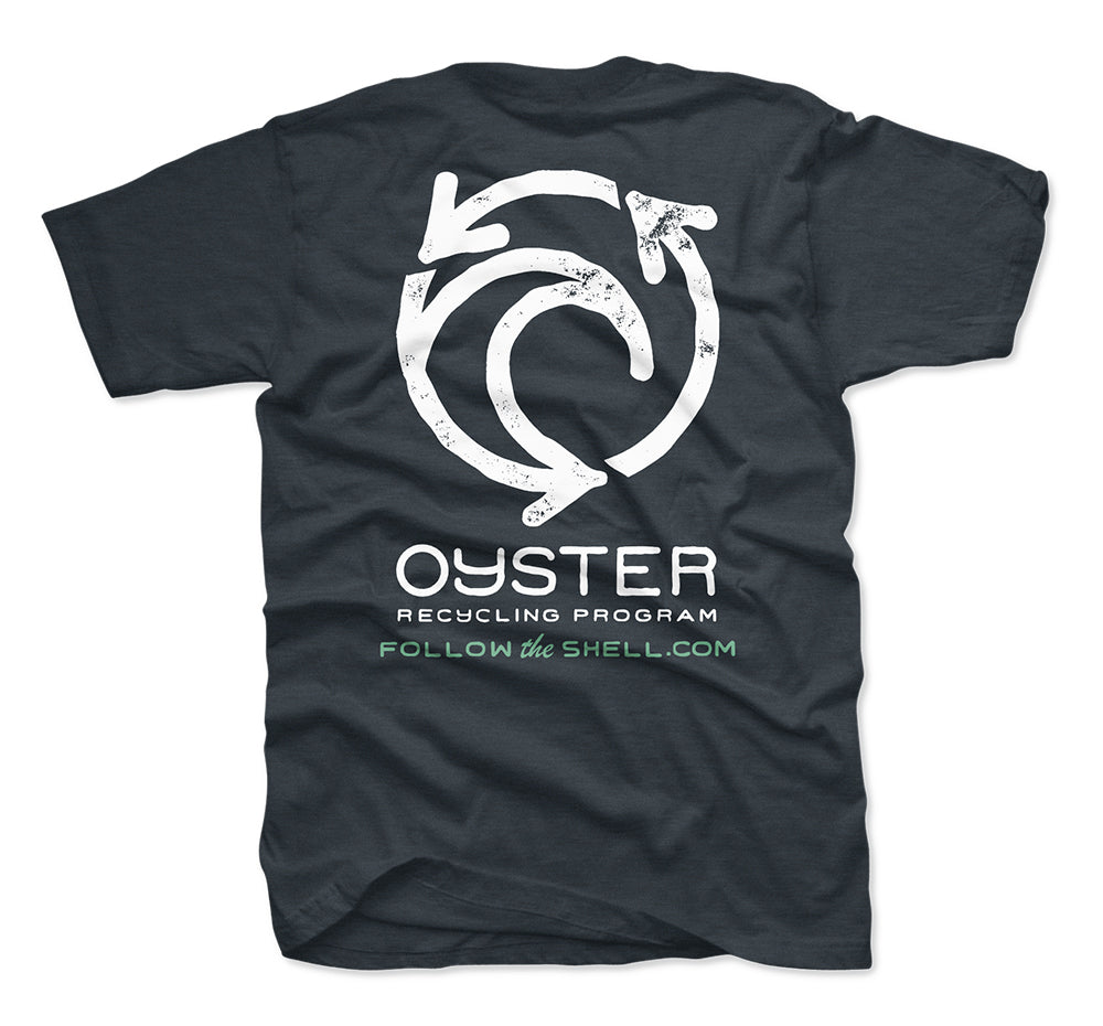 Jetty - Oyster Recycling Tee- Navy