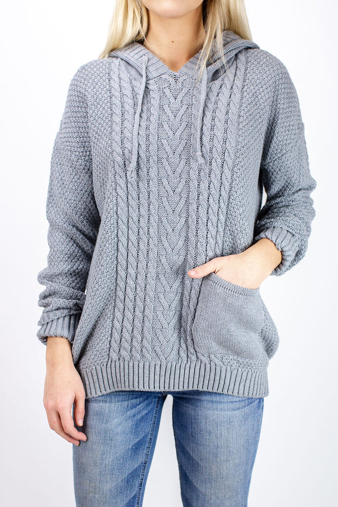 Jetty - Barnegat Sweater - Heather Grey