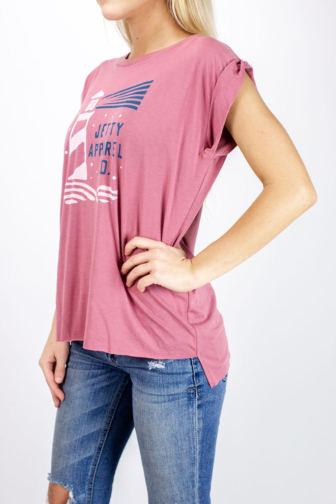 Lighthouse Tank - Mauve