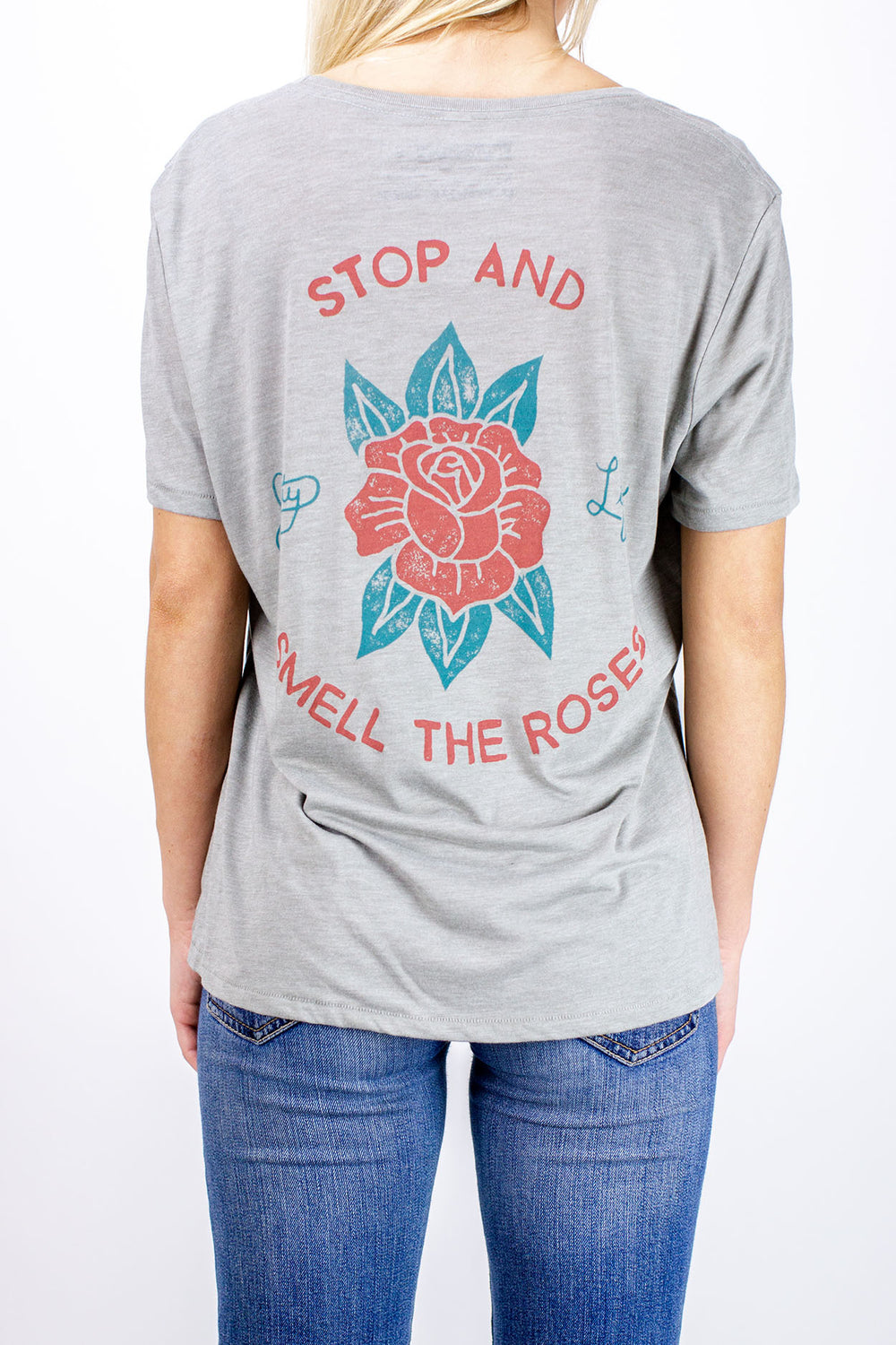 Jetty - The Roses Pocket Tee - Heather Grey