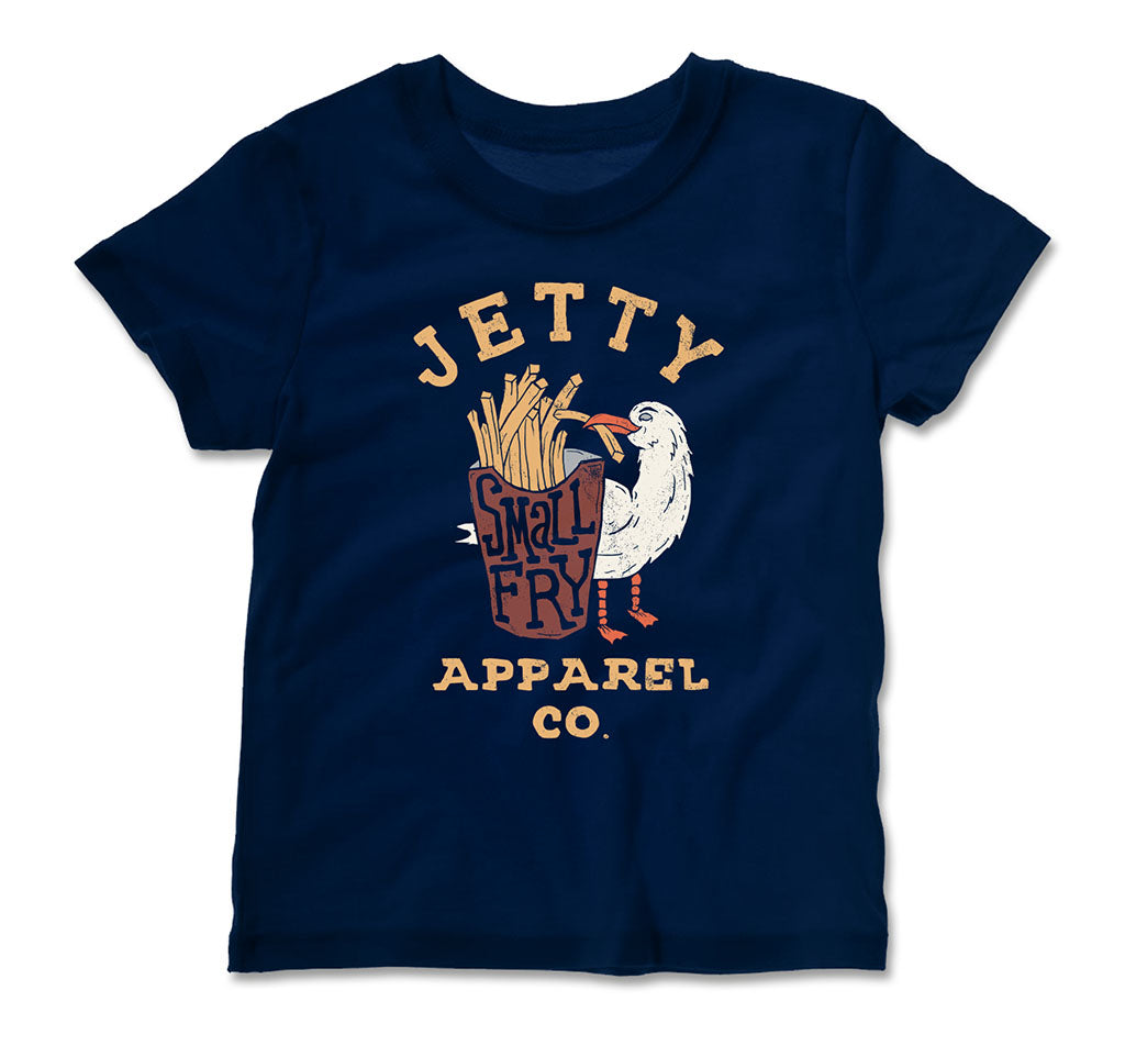 Jetty - Tot Small Fry Tee- Navy