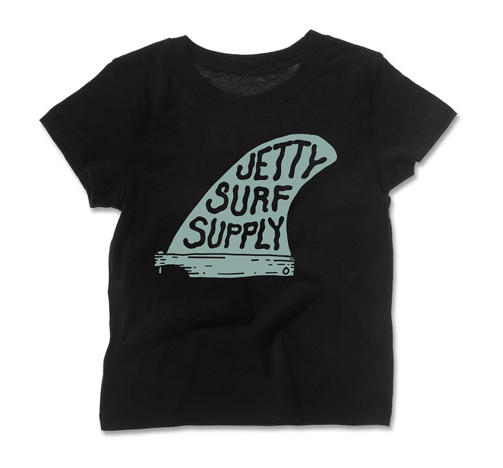 Jetty - Tot Single Fin Tee- Black