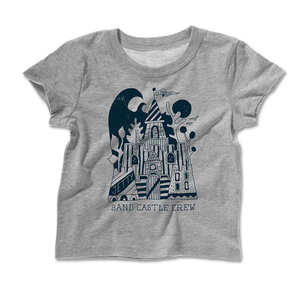 Tot Castle Crew Tee- Heather Grey