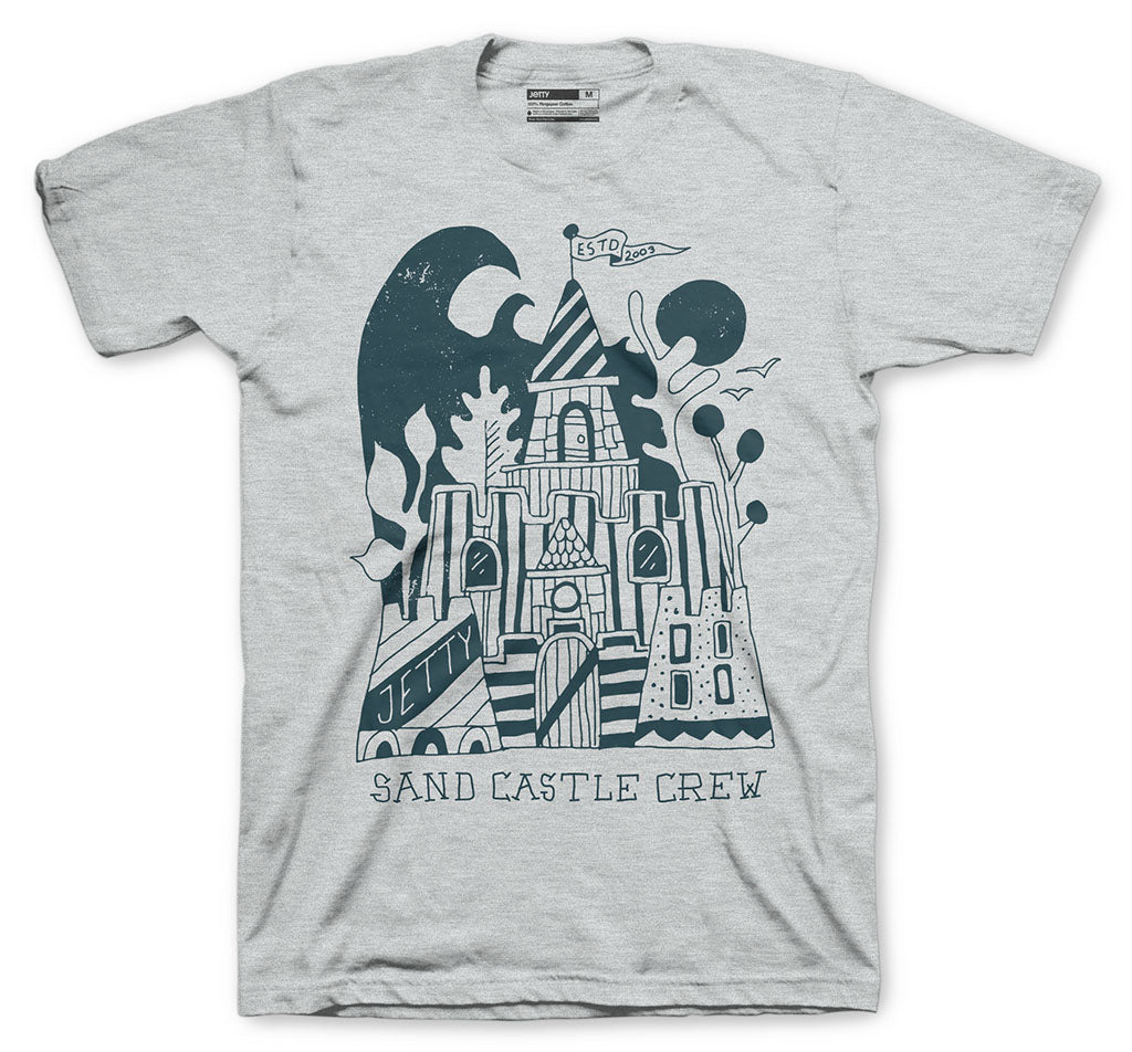 Grom Castle Crew Tee- Heather Grey