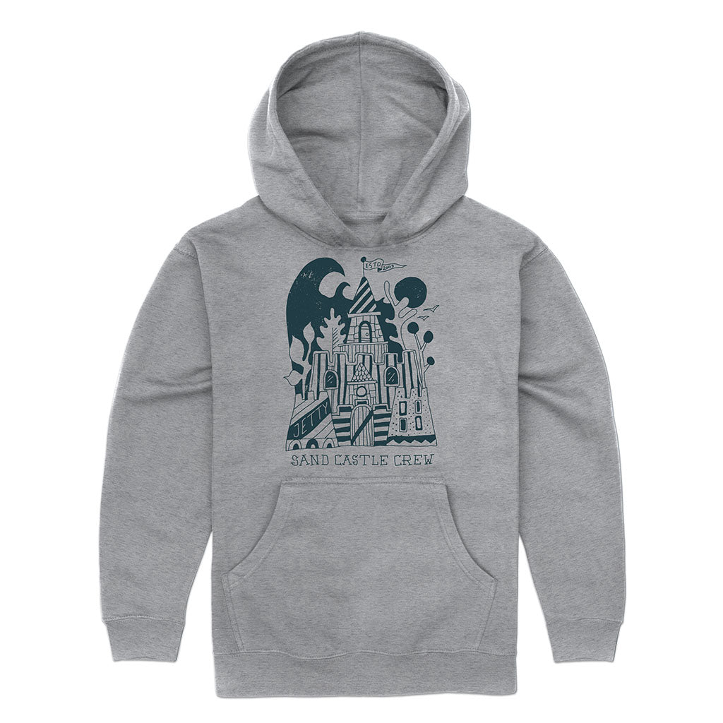 Grom Castle Crew Hoodie- Heather Grey
