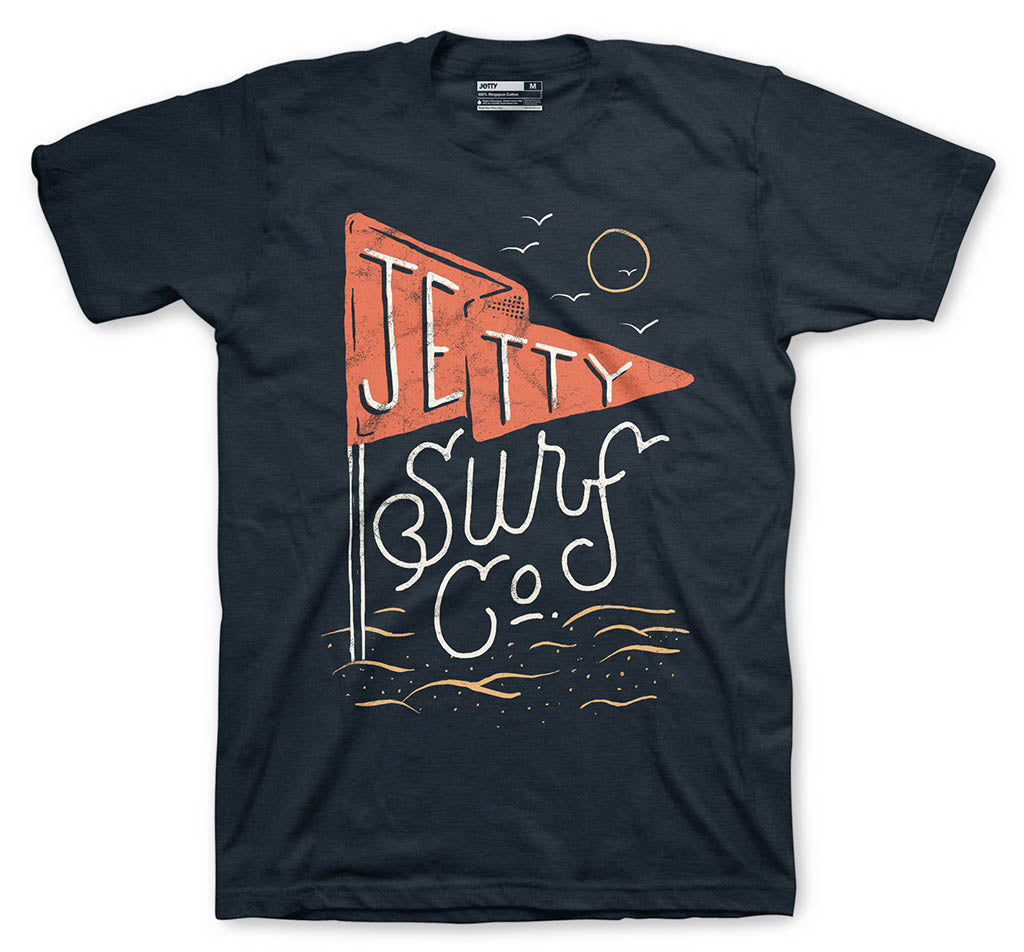 Grom Red Flag Tee- Navy