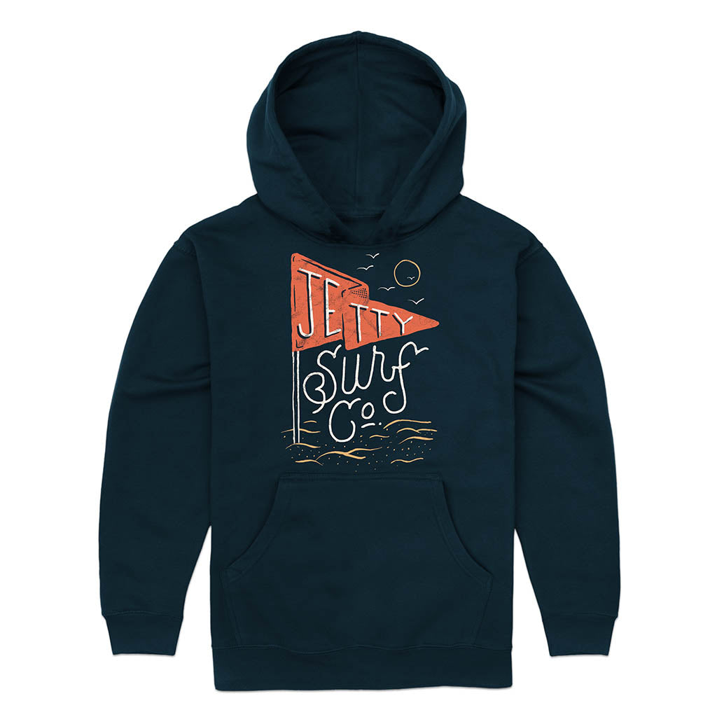 Jetty - Grom Red Flag Hoodie- Navy