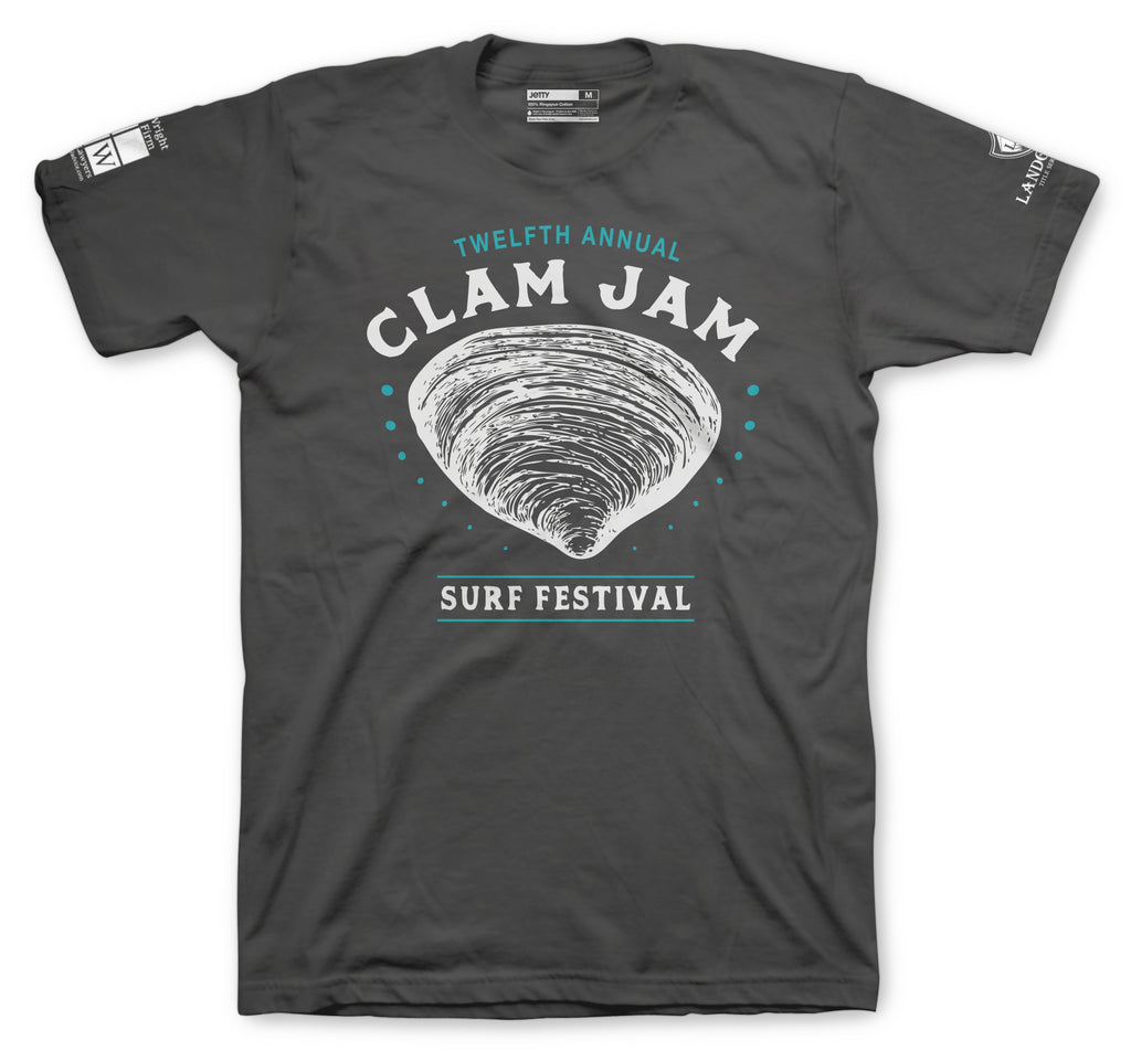 Jetty - 2018 Clam Jam Tee- Charcoal