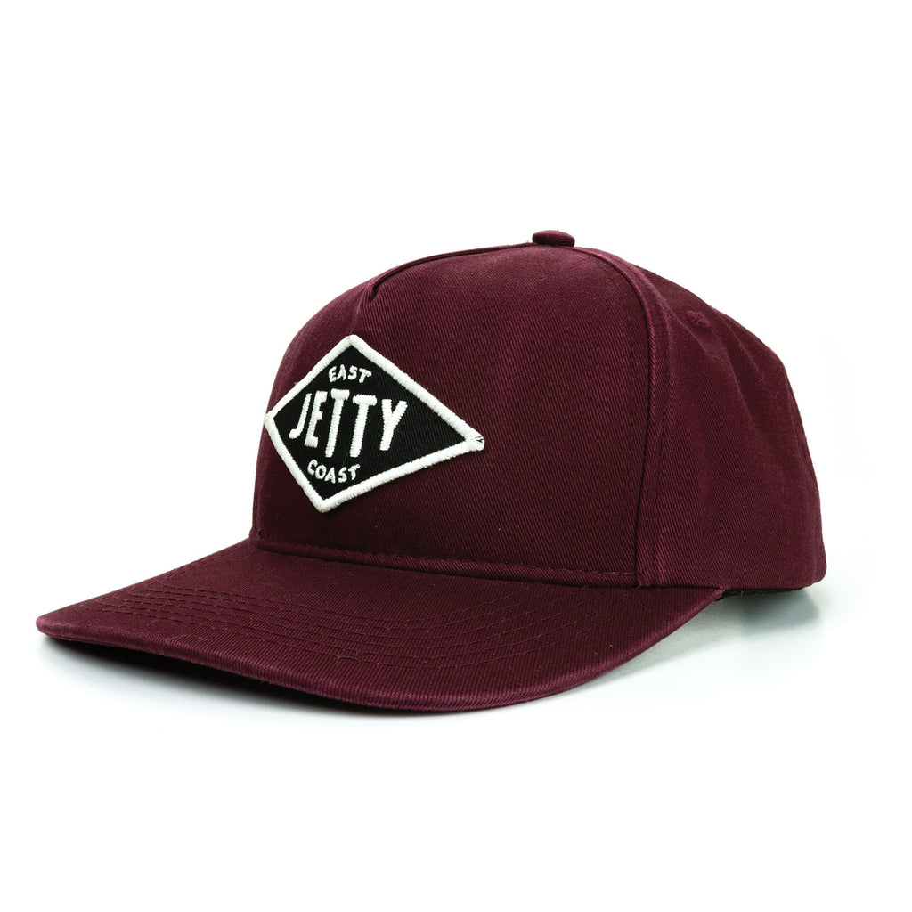 Jetty - East Diamond Snapback - Oxblood Black