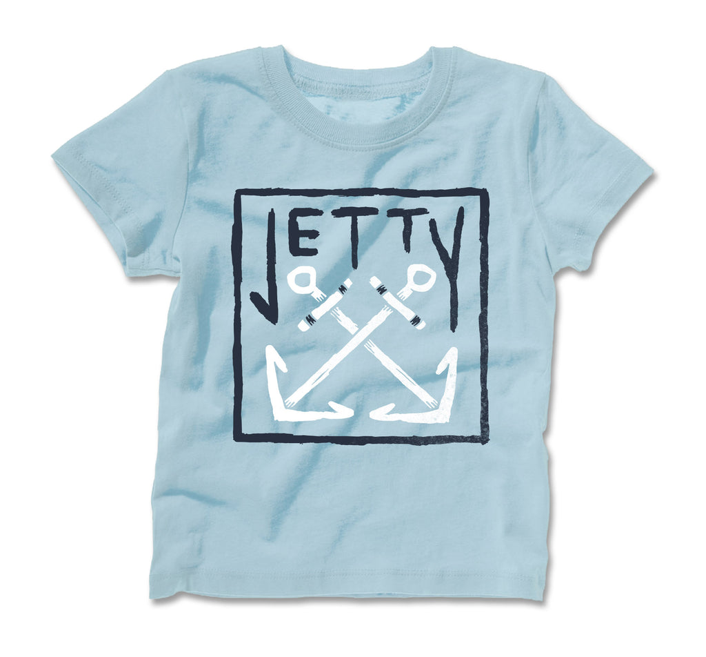 Jetty - Tot Chranchor Tee- Light Blue