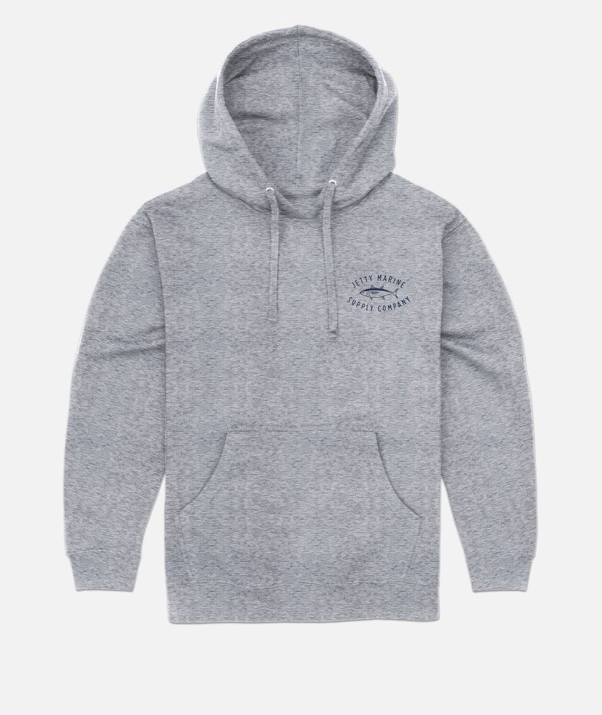 Jetty - Ahi Hoodie- Athletic Heather Grey