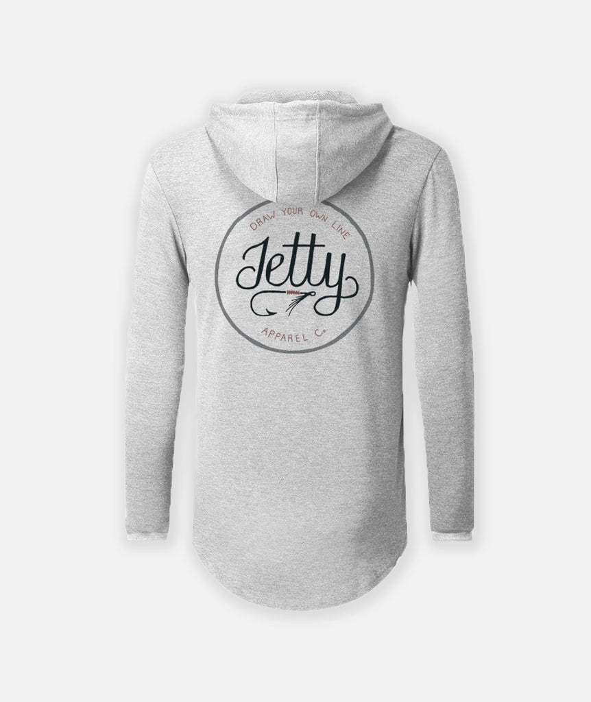 Jetty - Flyfish LS Hooded Solar- Athletic Grey Heather
