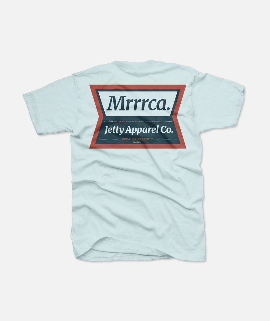 Jetty - Mrrrca Tee - Light Blue