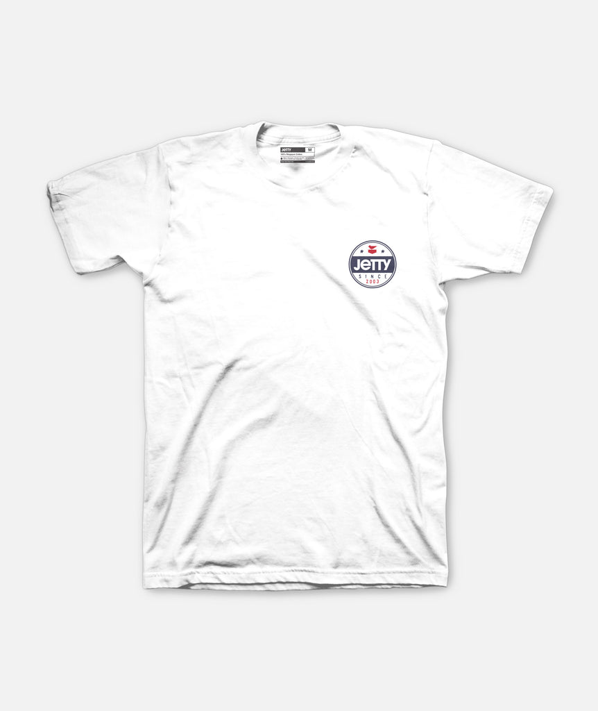 Jetty - Old Glory Tee - White