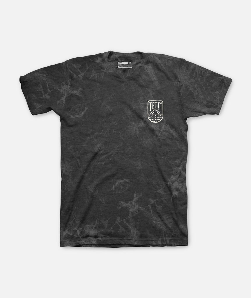 Jetty - Ripple Tee - Black Mineral Wash