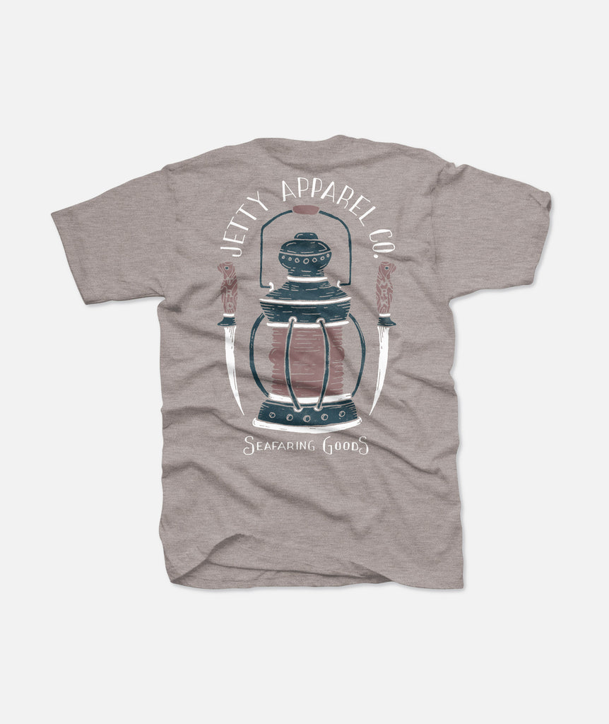 Jetty - Seafarer Tee - Heather Grey