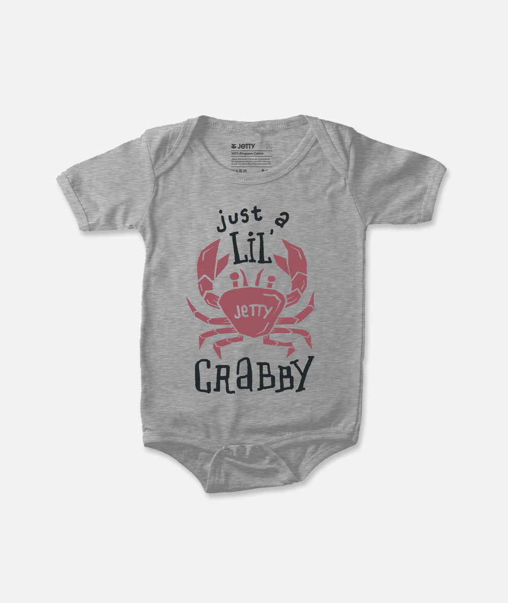Jetty - Mini Crab Jumper - Heather Grey
