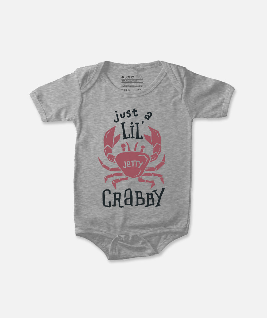 Mini Crab Jumper - Heather Grey