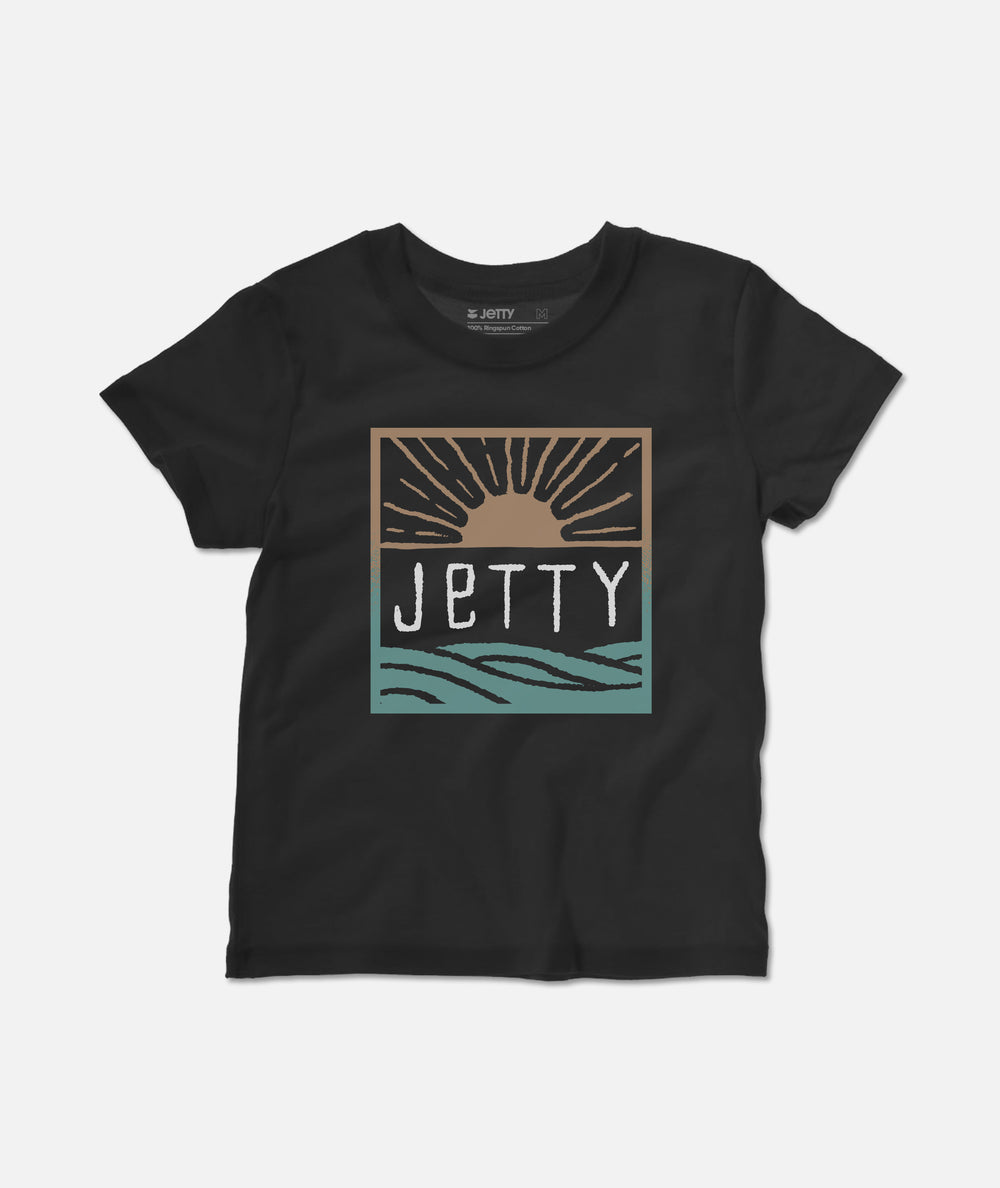 Jetty - Tot Early Bird Tee - Black