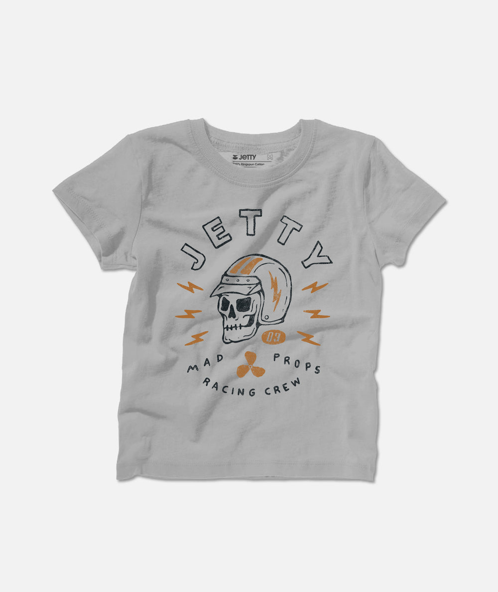 Jetty - Tot Prop Skull Tee- Grey