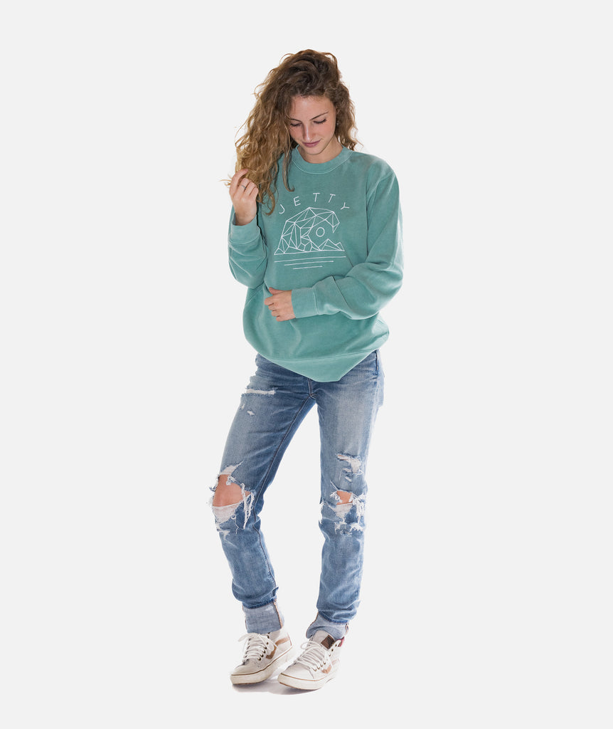 Jetty - Geowave Crew Fleece- Mint