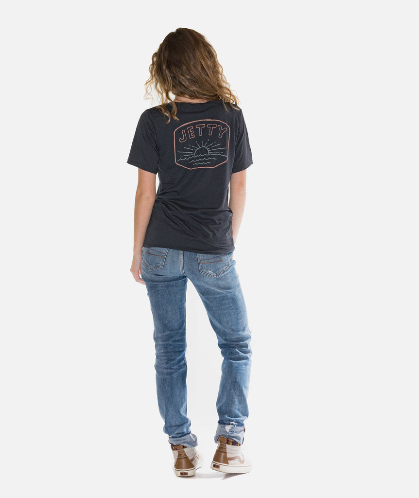 Jetty - Daybreak Tee- Charcoal