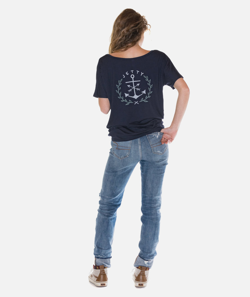 Jetty - Bow Anchor Tee- Navy