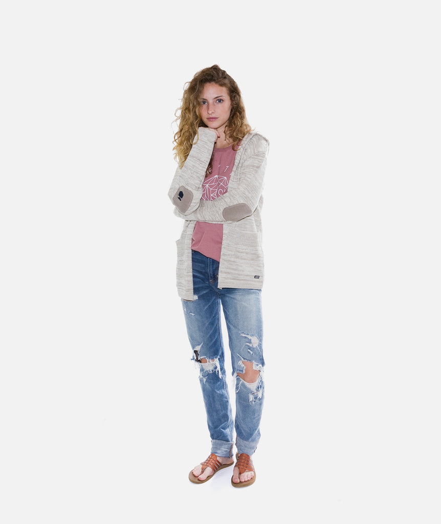 Jetty - Brooke Cardigan- Natural