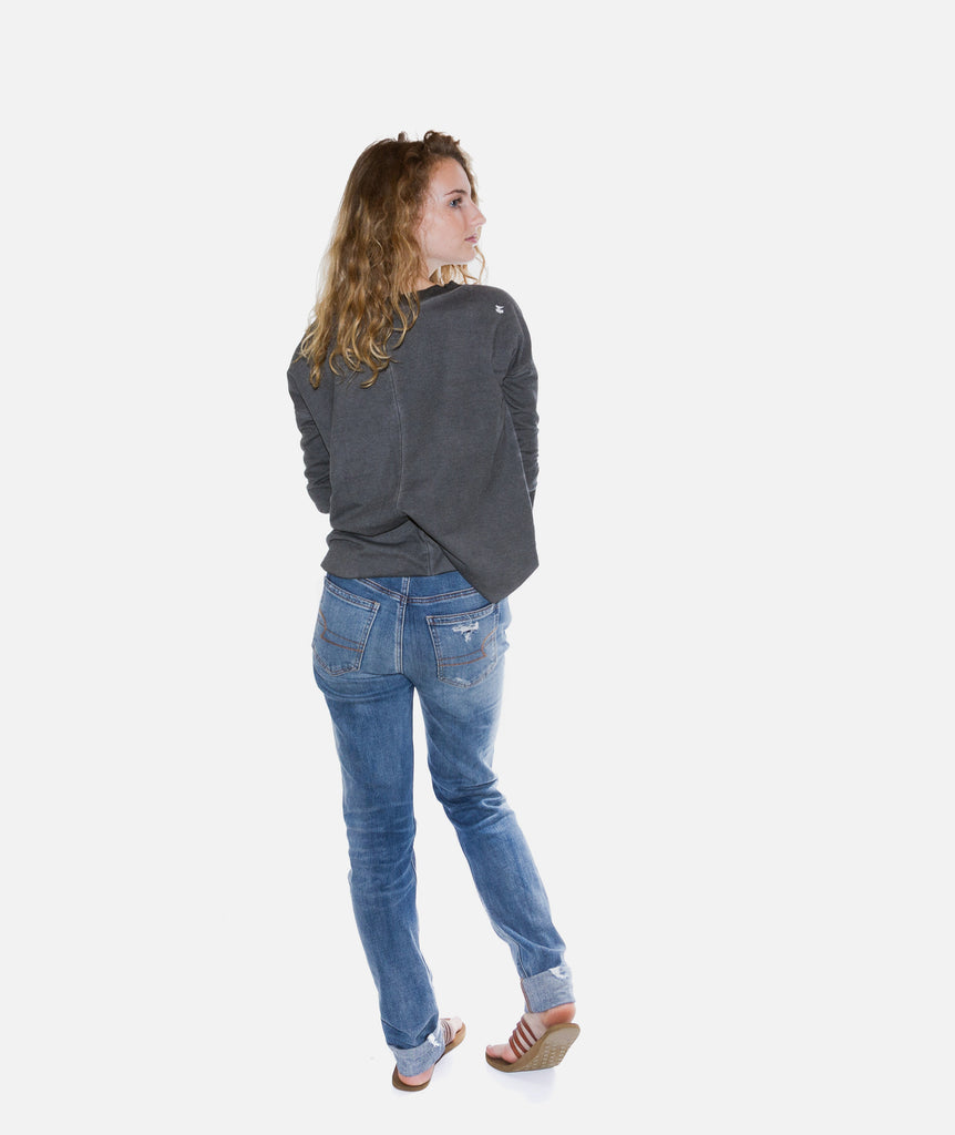 Jetty - Alpine Sweatshirt- Charcoal