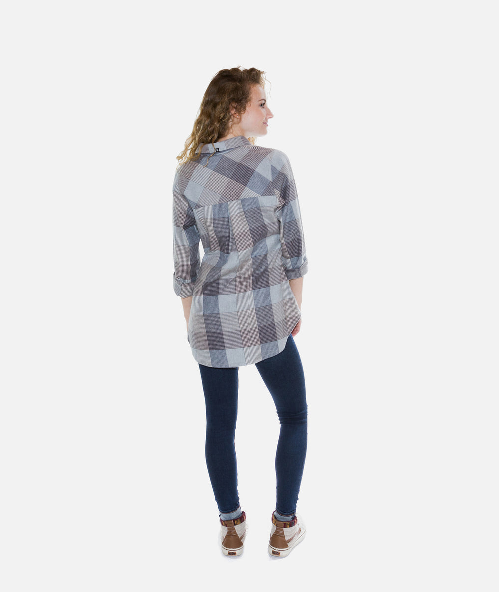 Jetty - Tellulah Flannel Top- Heather Grey