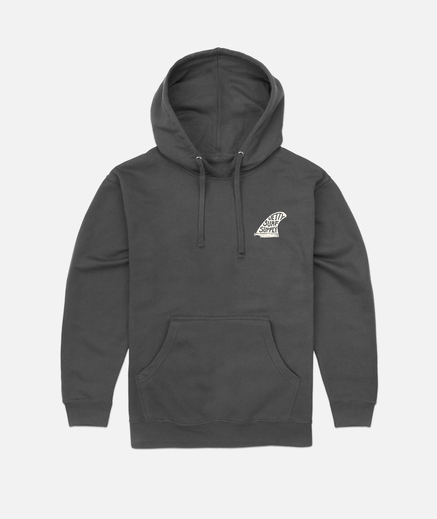 Jetty - Single Fin Hoodie- Charcoal