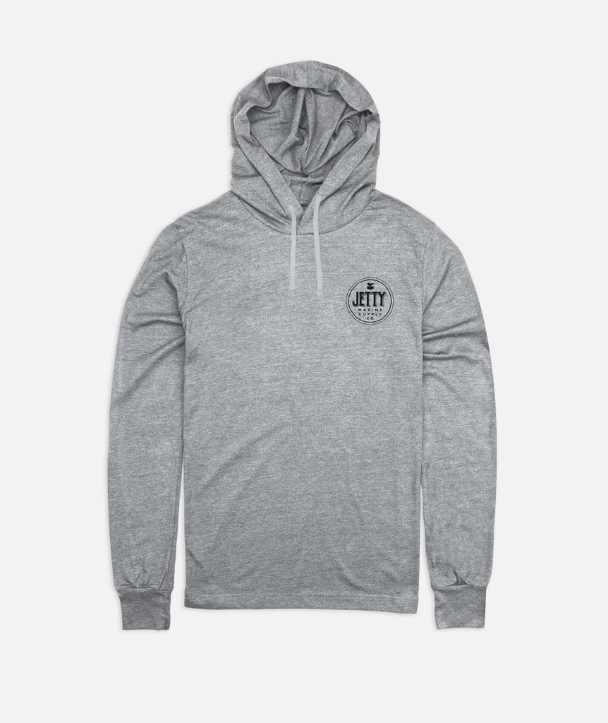Jetty - Heritage Hooded Tee- Heather Grey