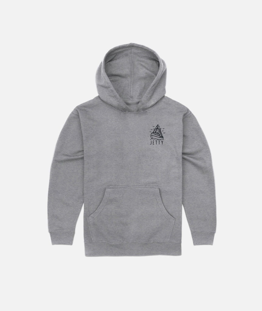 Jetty - Grom Victory Hoodie- Heather Grey