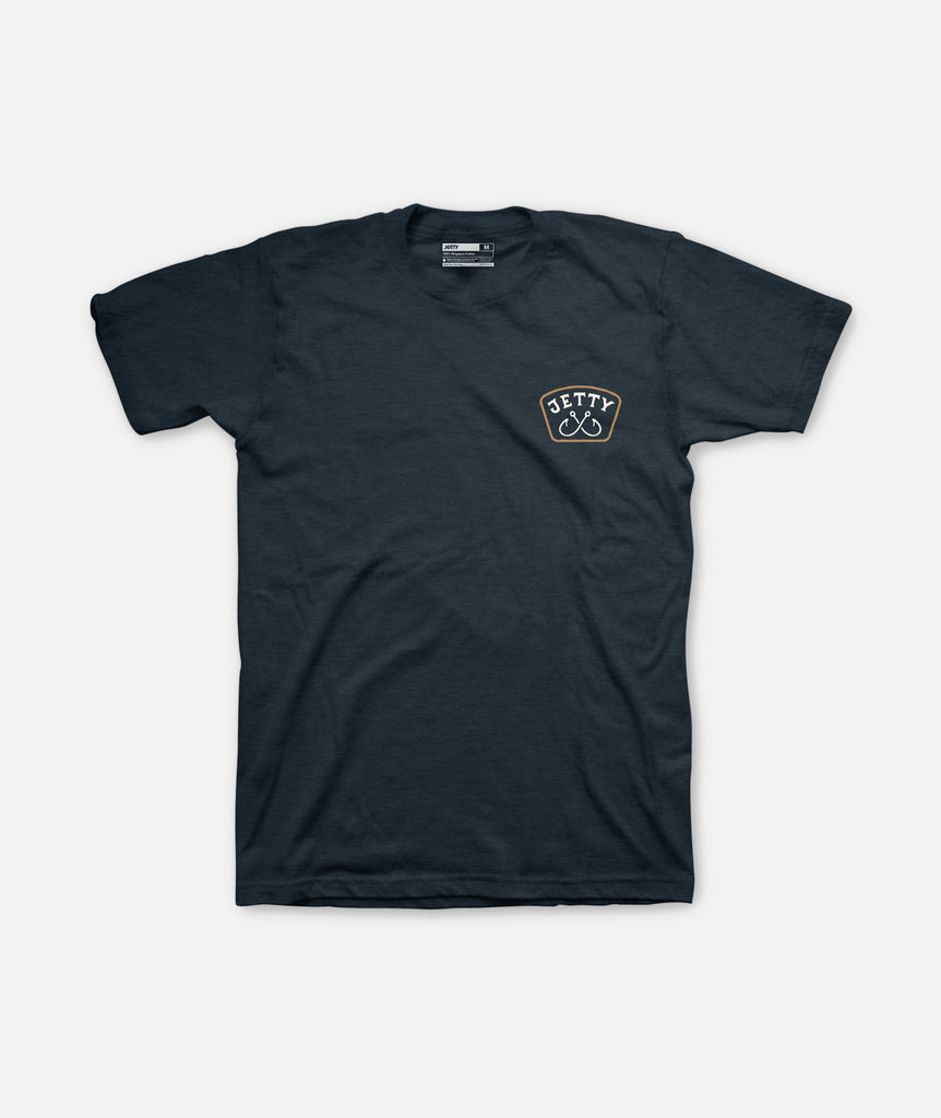 Jetty - Streamfish Tee- Navy
