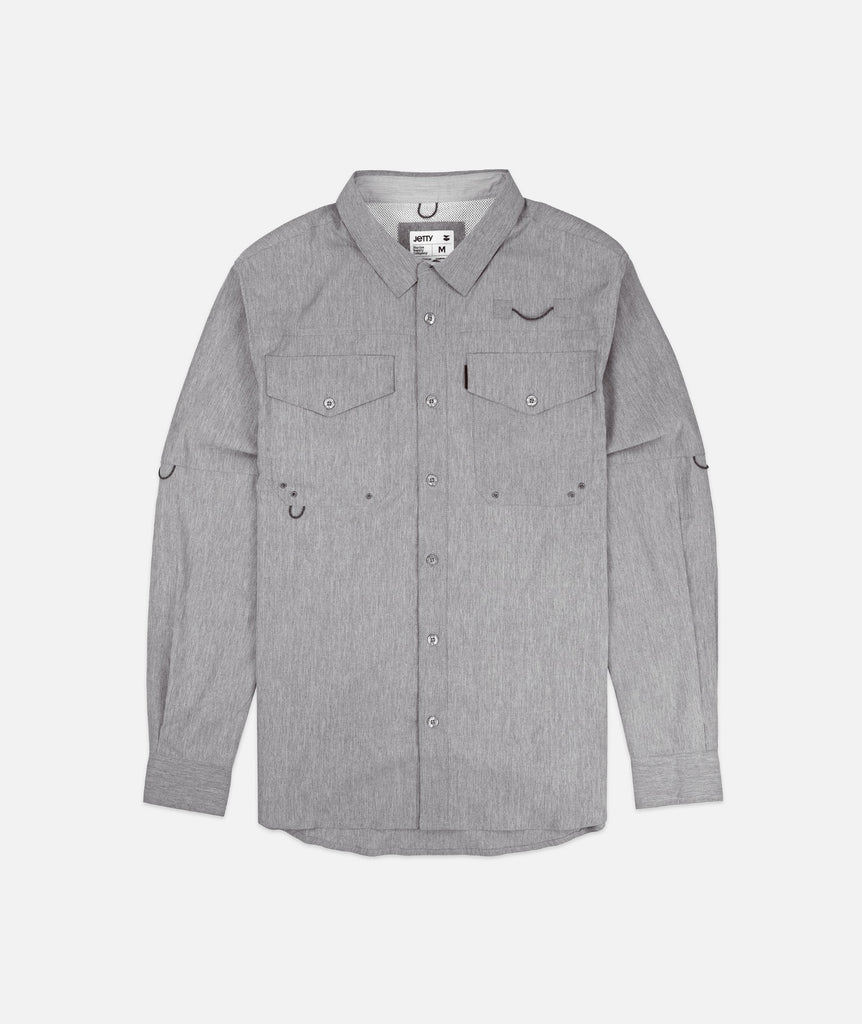 Bowline LS Guide Shirt- Heather Grey