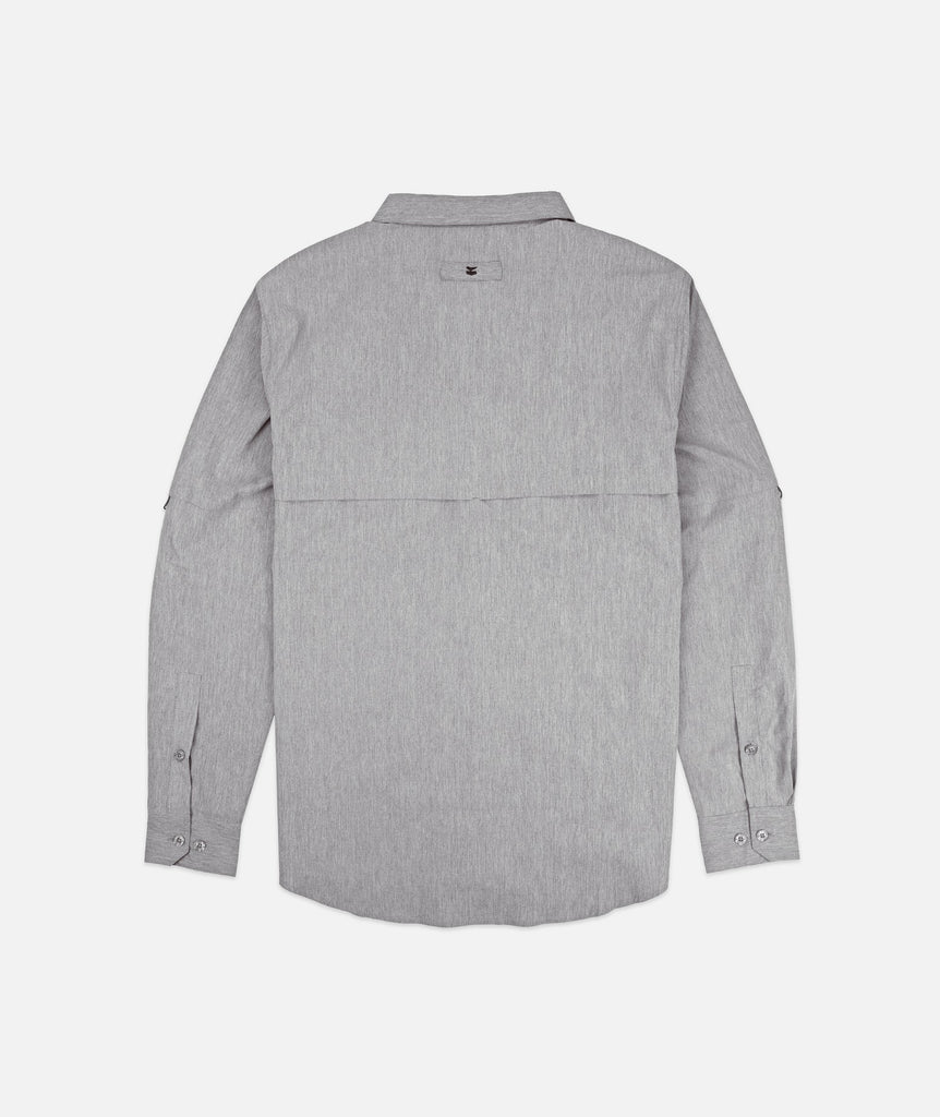 Jetty - Bowline LS Guide Shirt- Heather Grey