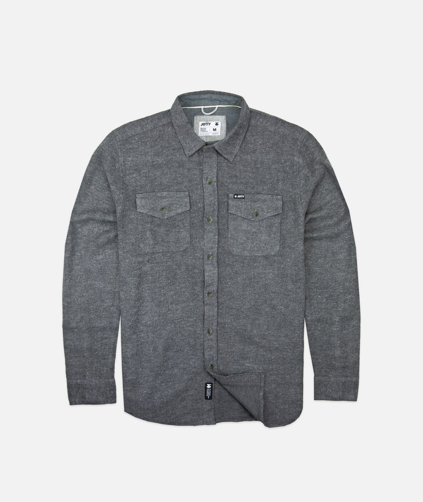 Jetty - Arbor Heavy Flannel- Charcoal