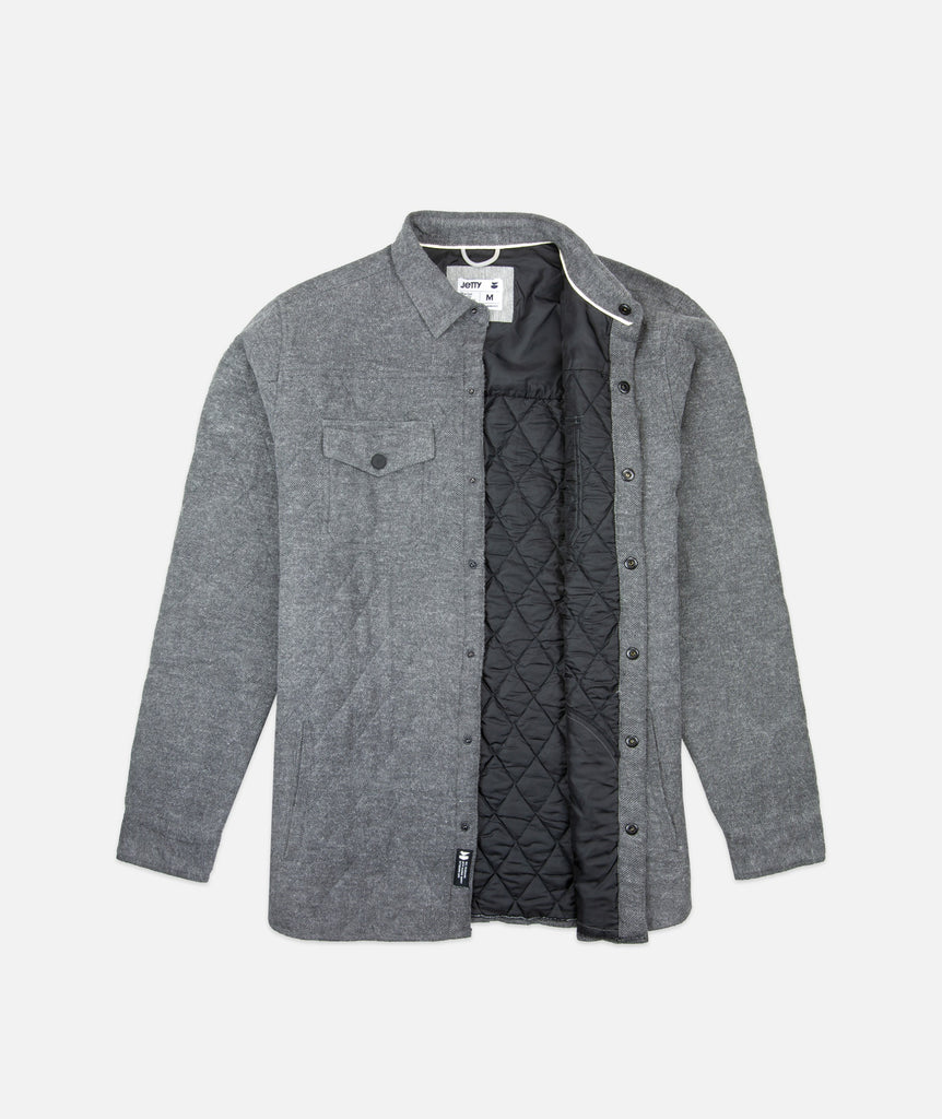 Seine Quilted Jacket- Charcoal