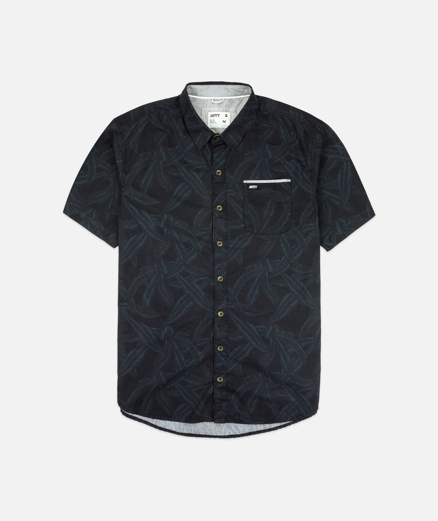 Jetty - Agave Woven Shirt- Black