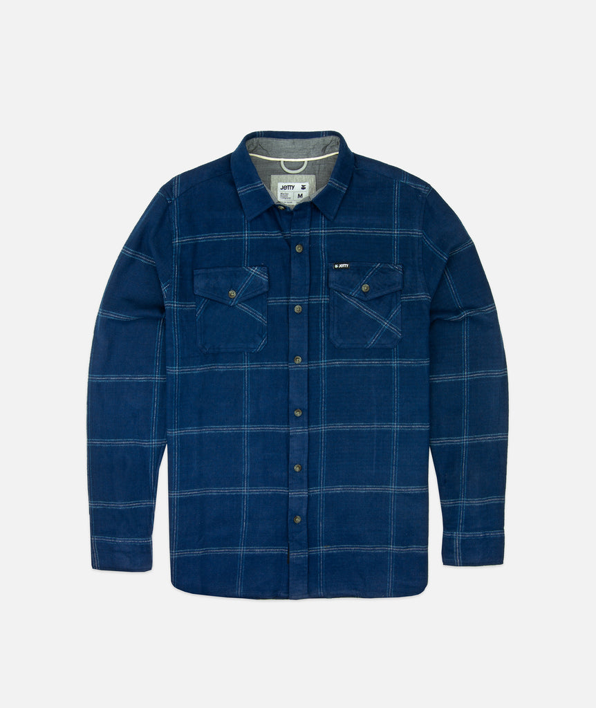 Jetty - Arbor Heavy Flannel- Navy