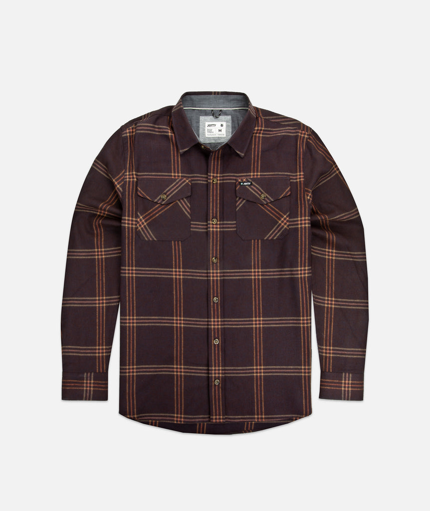 Jetty - Breaker Flannel- Oxblood Black
