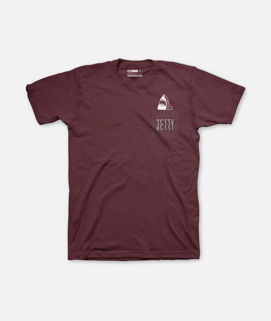 Jetty - Apex Pocket Tee- Oxblood Black