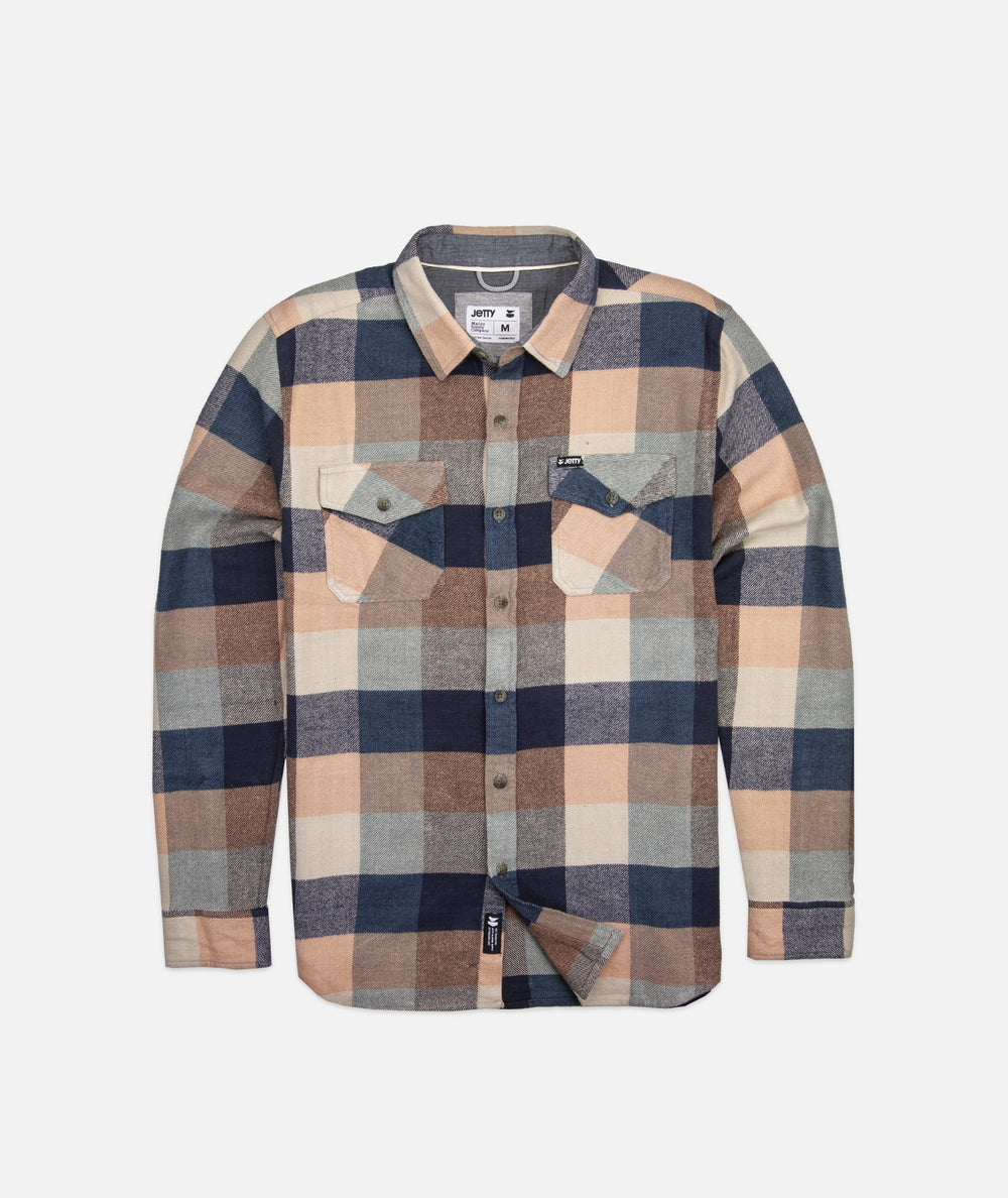 Jetty - Arbor Heavy Flannel- Sandstone